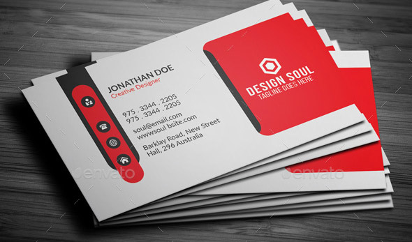 clean-red-business-card