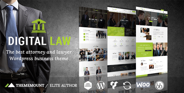 Digital Law Attorney Lawyer and Law Agency WordPress Theme