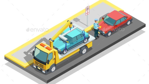 Isometric Parking Composition