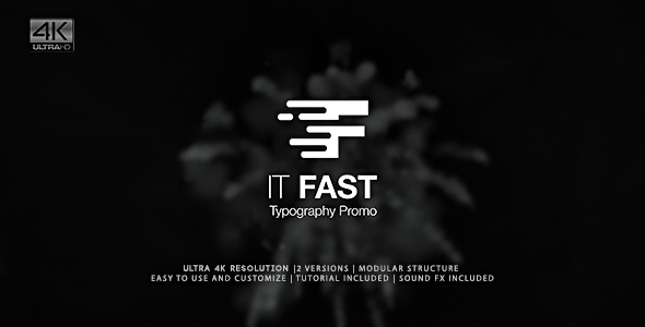It Fast Typography Promo