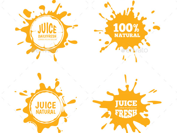 juice-splashes-badges-set