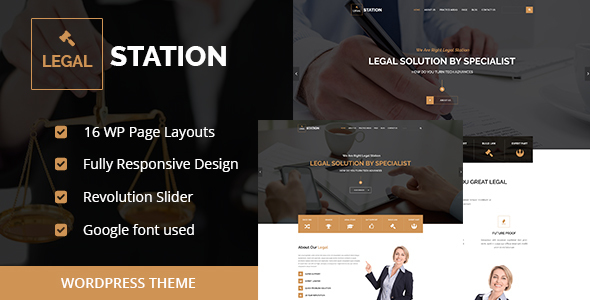 LEGAL STATION Responsive Legal Solution WordPress Theme