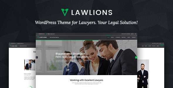 Law Lions Lawyers Attorneys Business WordPress Theme