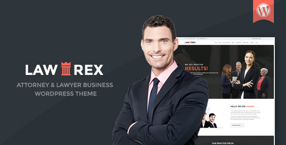 Lawrex Attorney Lawyer Business WordPress Theme