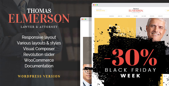 Lawyer Attorney Personal Lawyer and Law company WordPress Theme