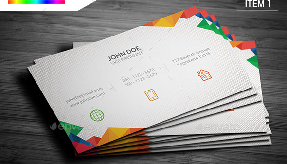 multicolor-business-card-bundle