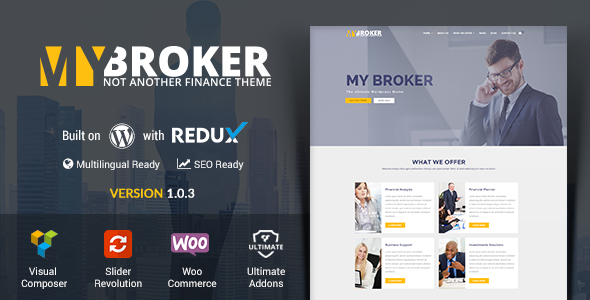 My Broker Business and Finance WordPress Theme