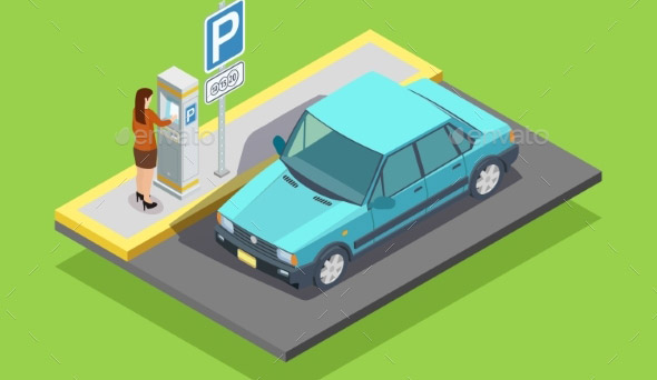 Parking Isometric Template