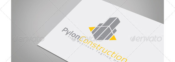 pylon-construction-logo-template
