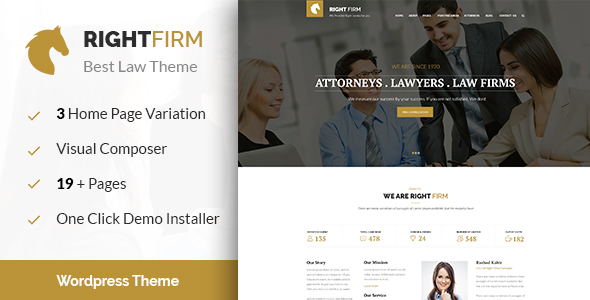 Right Firm Law Firm WordPress Theme