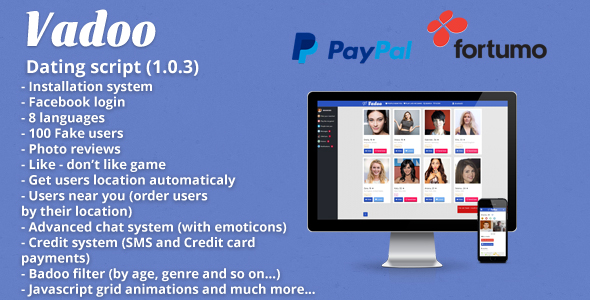 Vadoo Social network dating script