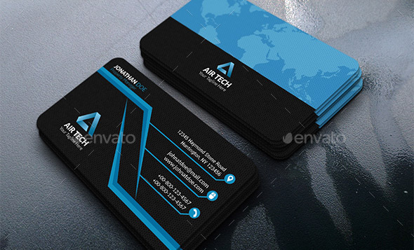 26 Cool Business Card Templates For Technology Company – Desiznworld