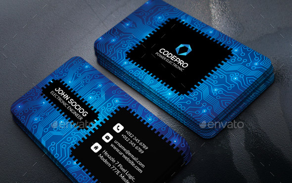 Cool Business Card Templates For Technology Company Desiznworld - Email business card templates
