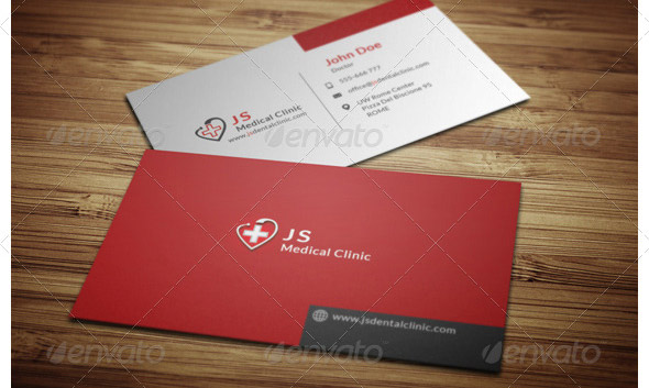 16 cool business card design templates for doctor