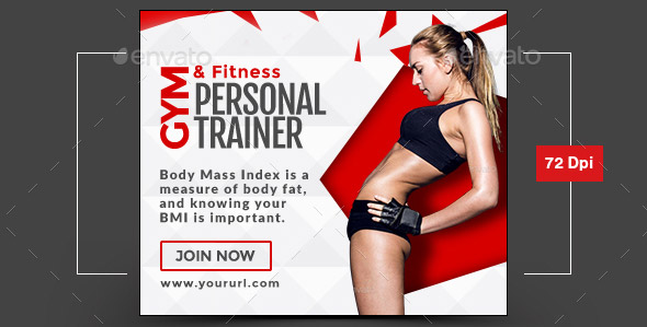 Cool health fitness web ads banners psds desiznworld