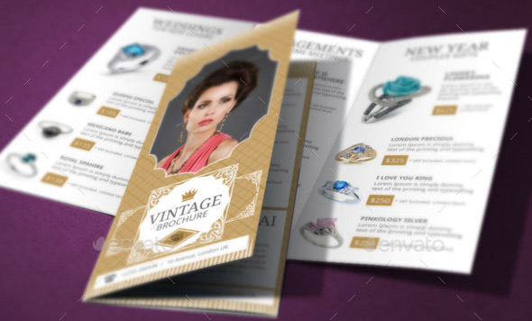 Cool Jewelry Brochure Templates  Desiznworld