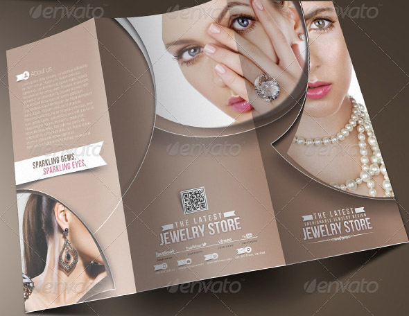 Jewelry Brochure Template. Jeweler Or Jewelry Store Flyer ~ Flyer