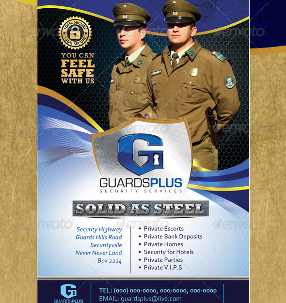 21 nice flyer templates for security company  u2013 desiznworld