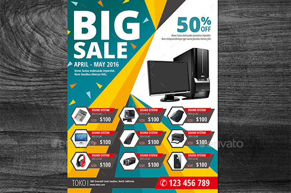 Product Promotion Flyer Template Gallery Template Design Free Download