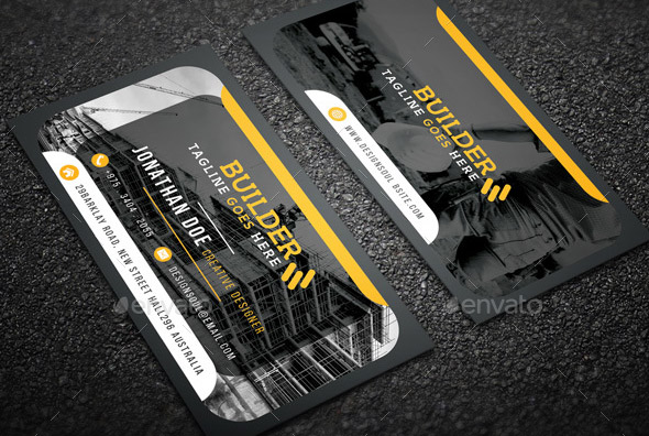 17 Cool Business Card Template For Construction Desiznworld