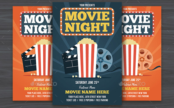 19 Cool Comedy & Movie Night Flyer Templates – Desiznworld