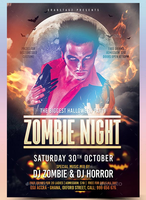Zombie Flyer Template  SkiroPkIProTk