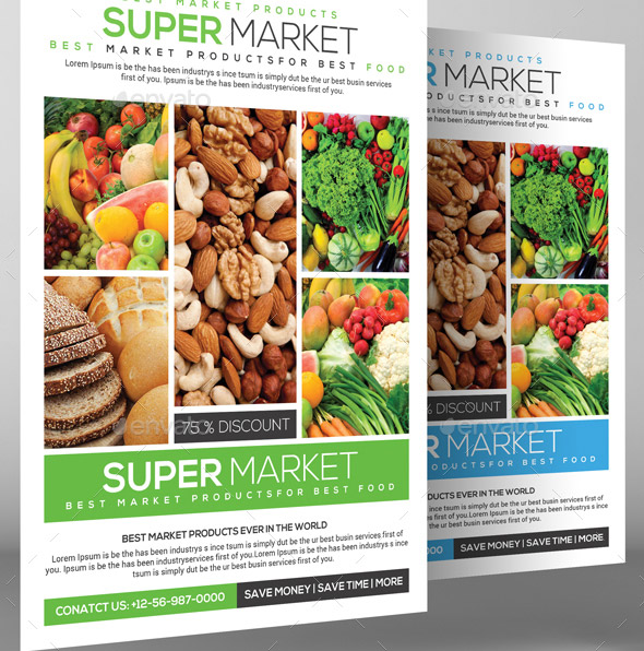 20 Cool Grocery Store Flyer Templates Desiznworld