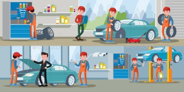 21 Nice Car Service Illustration Templates Desiznworld