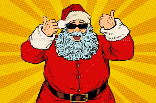 20 Cool Santa Claus Design Vector Templates Desiznworld