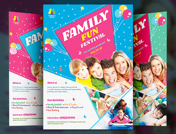 20 cool family day flyer templates desiznworld